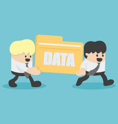 business people transfer Files data vector image