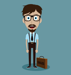 Businessman office salesman guy funny cartoon vector