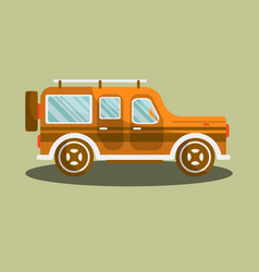 Camper bus or camping van flat isolated vector