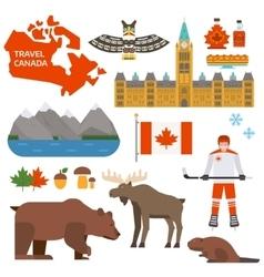 Canada symbols vector image