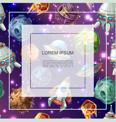 cartoon space colorful template vector image