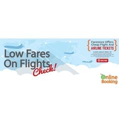 Cheap Flight For Sale 1500x600 Banner vector