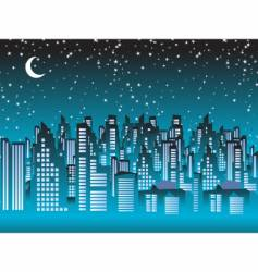 Cityscape night scene vector