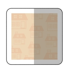 Color middle shadow sticker with square with vector