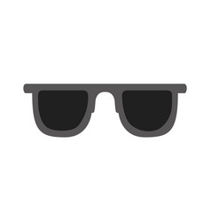 color silhouette of sunglasses icon vector image