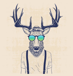 Cool deer vector