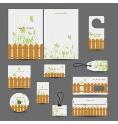 Corporate business objects wooden style for your vector