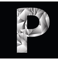 Crystal letter P vector