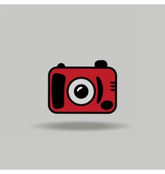 Cute colorful icon of digital camera vector image