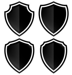 different shield shapes vector image