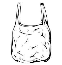 disposable bag black and white vector image