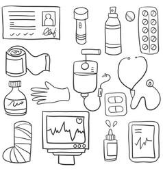 Doodle of medical element art vector