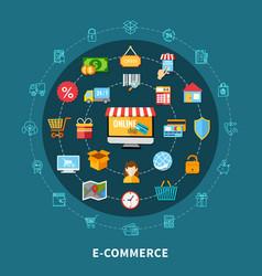 e commerce flat composition vector image