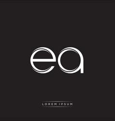 Ea initial letter split lowercase logo modern vector