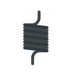 elastic spring wire icon flat style vector image