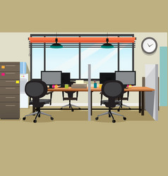 Empty office workplace vector