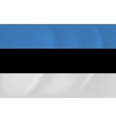 Estonia waving flag vector image