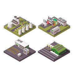 factory composition 2x2 set vector image