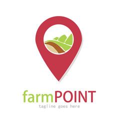 farm point logo vector image
