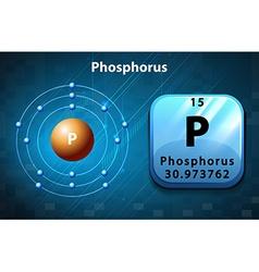Flashcard of phosphorus atom vector image