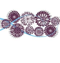 Flower spring or summer floral pattern vector