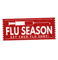 Flu season grunge rubber stamp vector