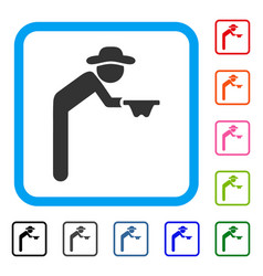 gentleman beggar framed icon vector image