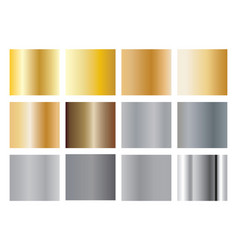 gold silver gradients vector image