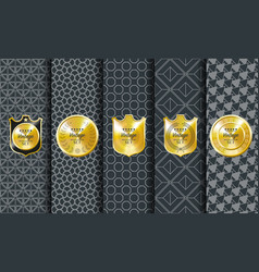 golden vintage pattern on dark background vector image