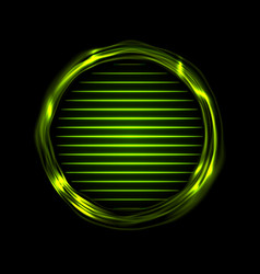 green glowing electric rings and neon lines vector image