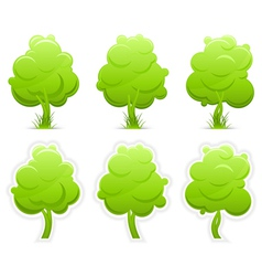 green trees with grass vector image