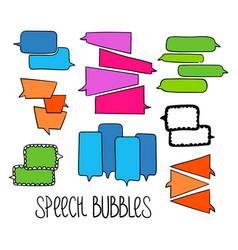 Hand-drawn speech bubbles-05 vector