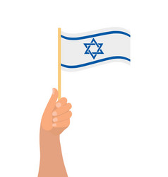 Happy israel independence day hand hold israel vector