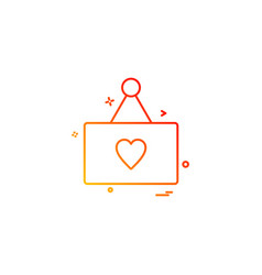 heart card icon design vector image