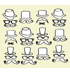 Hipster icons over cream background vector