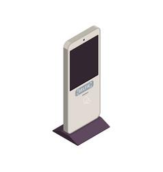 Isometric selfie kiosk icon vector