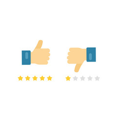 like or dislike fingers icons flat cartoon vector image