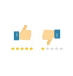 like or dislike fingers icons flat cartoon vector image