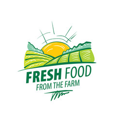 logo fresh food from farm vector image