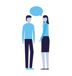 man and woman talking speech bubble vector image