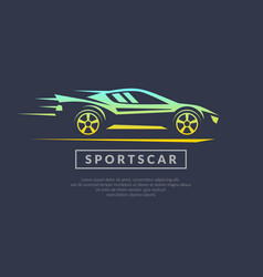 Modern logo sports cars vector