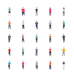 People character icon pack vector