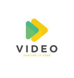 Play video logo vector
