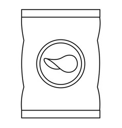 potato chips icon outline style vector image