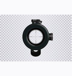 realistic 3d sniper scope crosshair vector image
