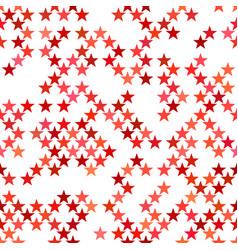 red seamless pentagram star pattern background vector image