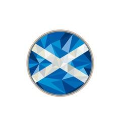 Scotland Flag Icon Circle Low Polygon vector