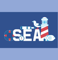 sea summer adventure banner vector image