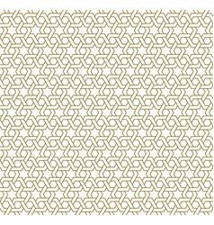Seamless arabic geometric ornament in brown color vector