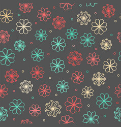 Seamless hipster floral pattern vector